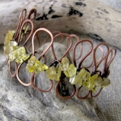 Citrine Loop bangle