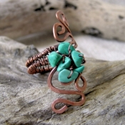 Turquoise squiggle ring