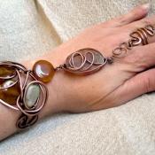 Chunky Gemstone Slave bracelet