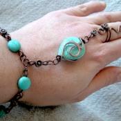 Turquoise drop Slave Bracelet