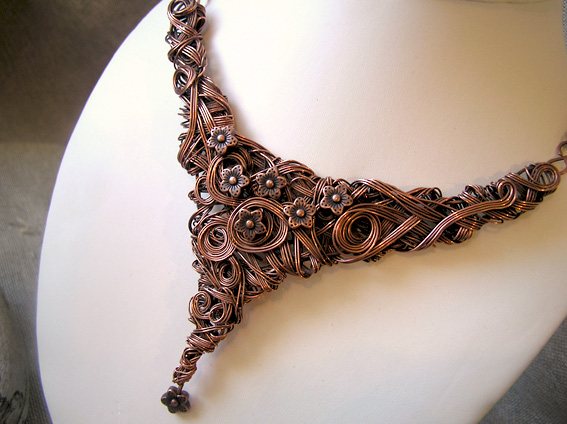 handmade jewellery made from copper wire