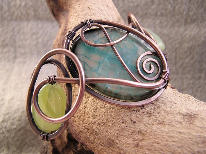 Agate Copper bracelet