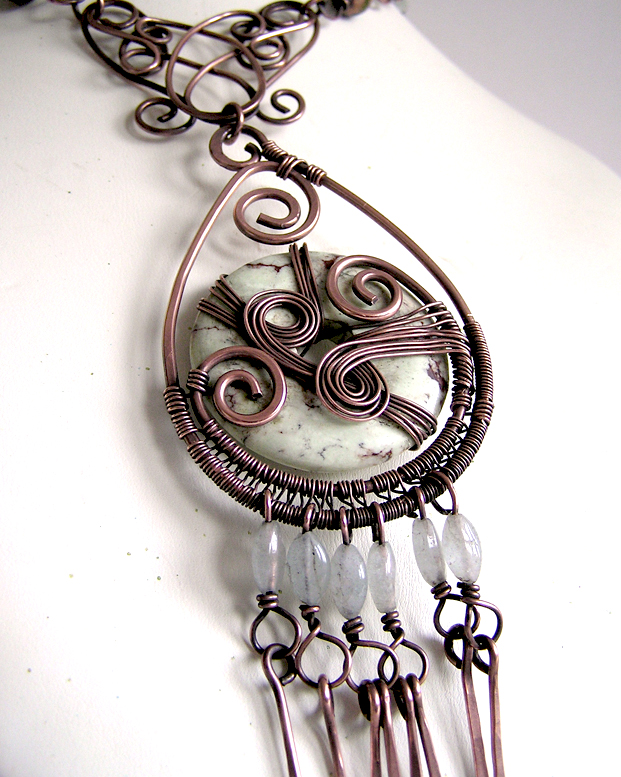 wire wrapped pendant donuts - photo #37