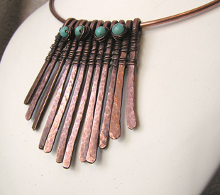New copper wire jewellery necklaces wire moon its been such a productive weekend for me as i have completed two new necklaces and both quite different in style aloadofball Images