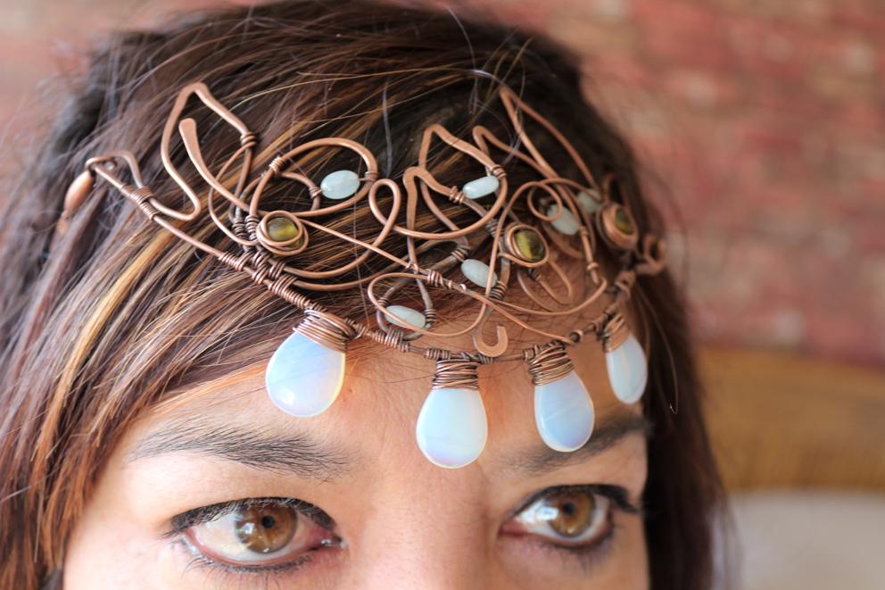 Copper Elven head dress