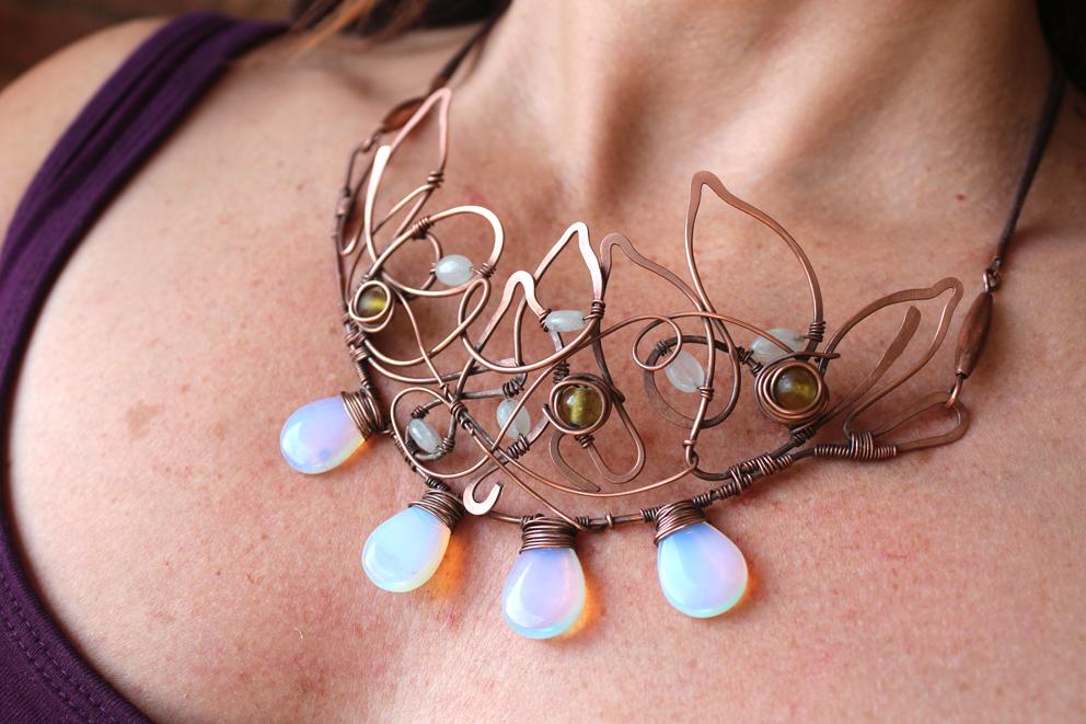 Elven Drop Copper necklace