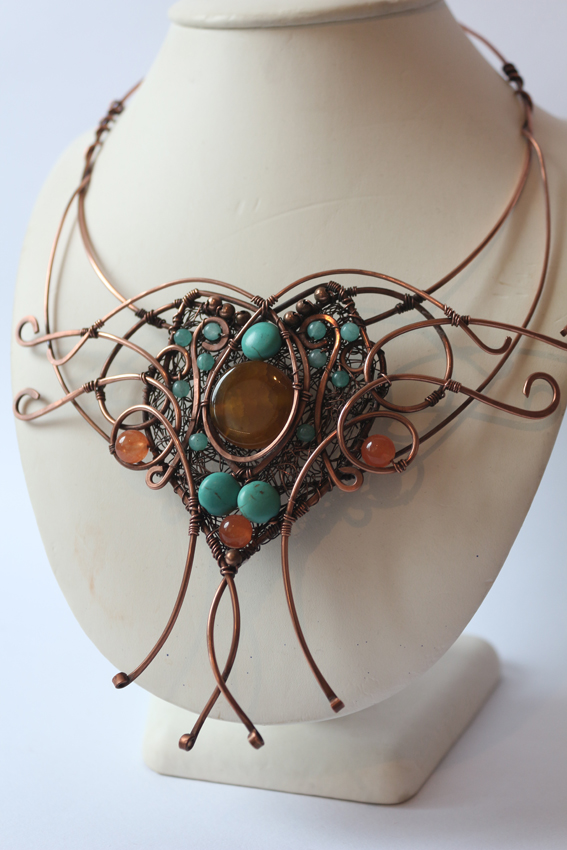 Metal Wire For Jewelry : Necklaces wire moon
