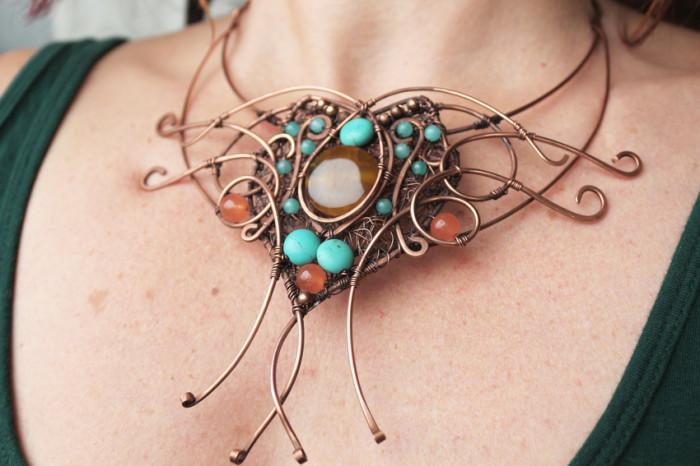 Grace turquoise copper necklace