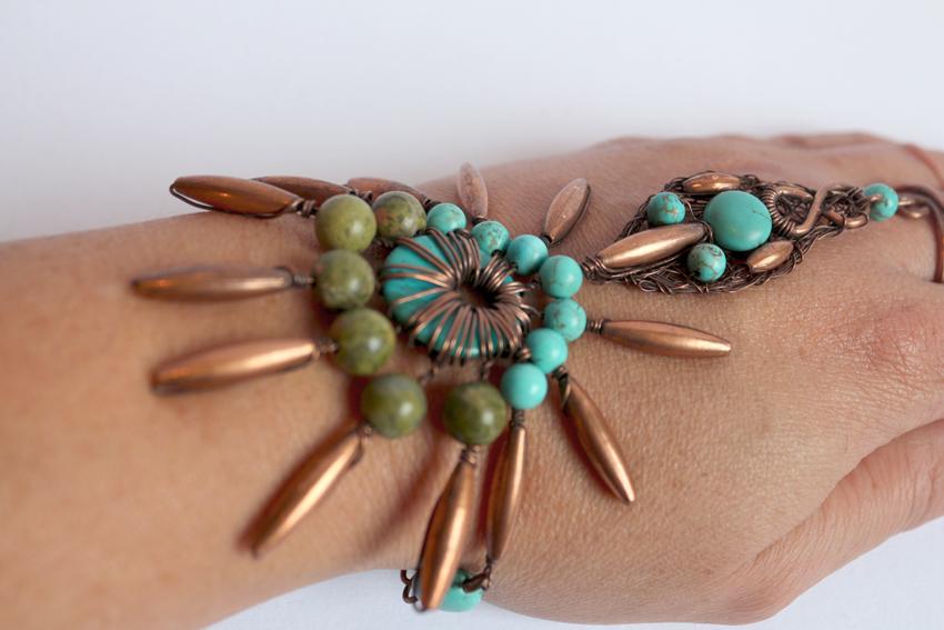 Star flower slave bracelet