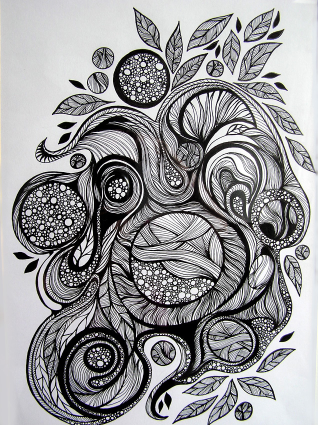 Scribble Drawing In Art Therapy : Doodling is therapy wire moon